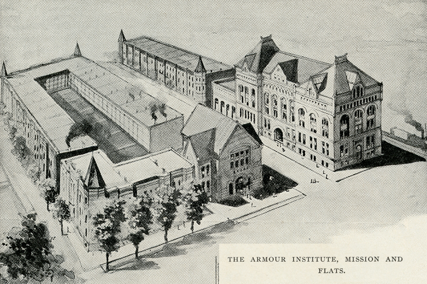 An illustration of main building