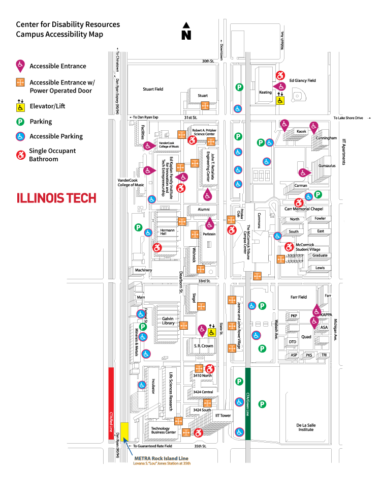 Illinois Tech Mies Campus Map