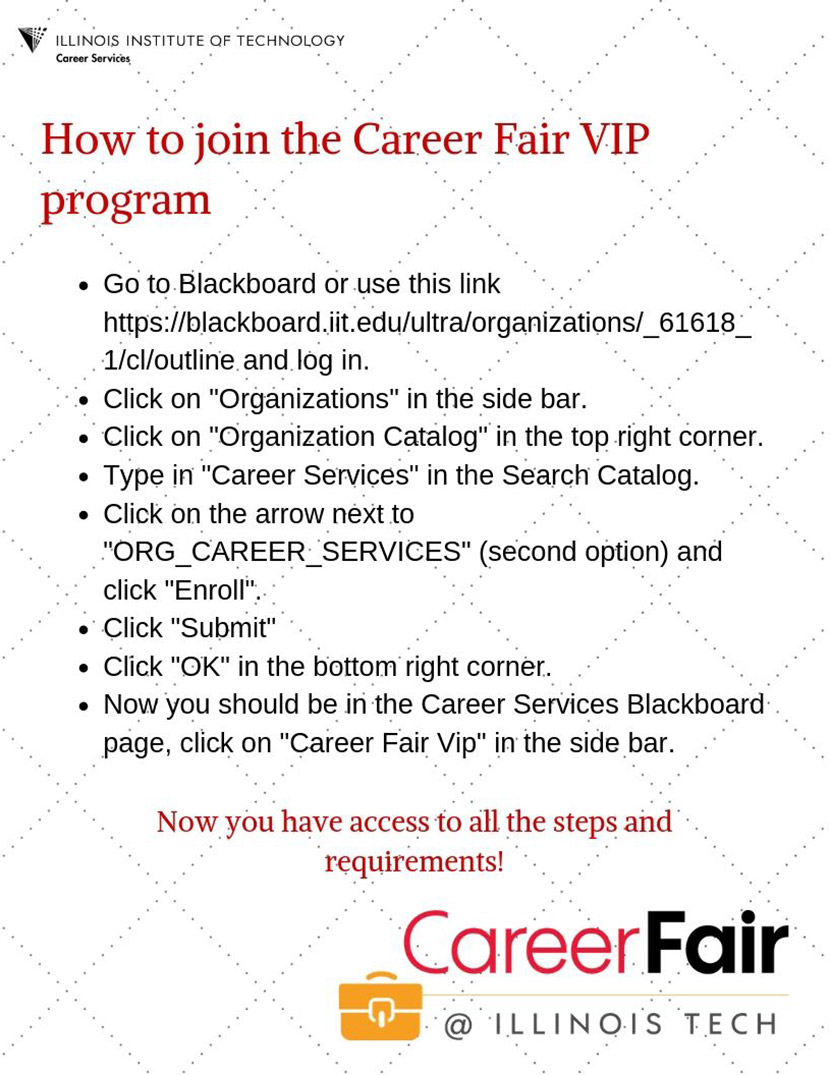 Career Fair VIP Program