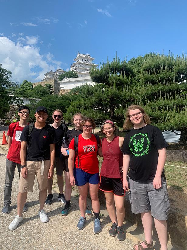 Students on a study abroad trip to Japan