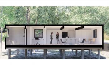Illinois Tech Students Reimagine Farnsworth House with Shipping Containers