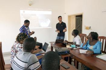 With One Student's Technical Touch, Hopes for Sprouting Success in Benin