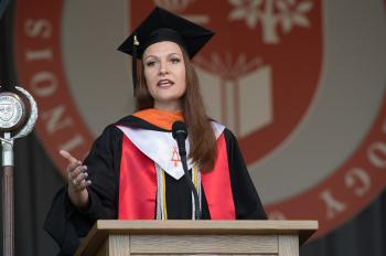 Photo of student commencement speaker Claire Fraeyman