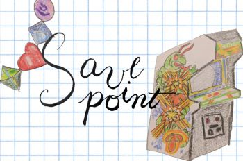Save Point graphic logo illustration