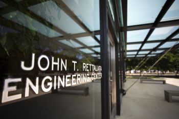 Photo of the front of John T. Rettaliata Engineering Center