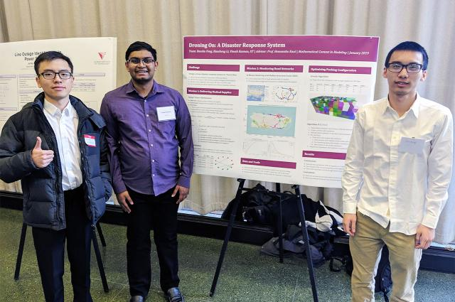 Students Flex Mathematical Modeling Muscle in International Competition