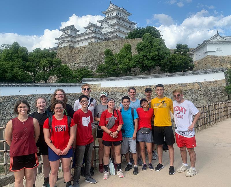 Lewis College study abroad students in Japan